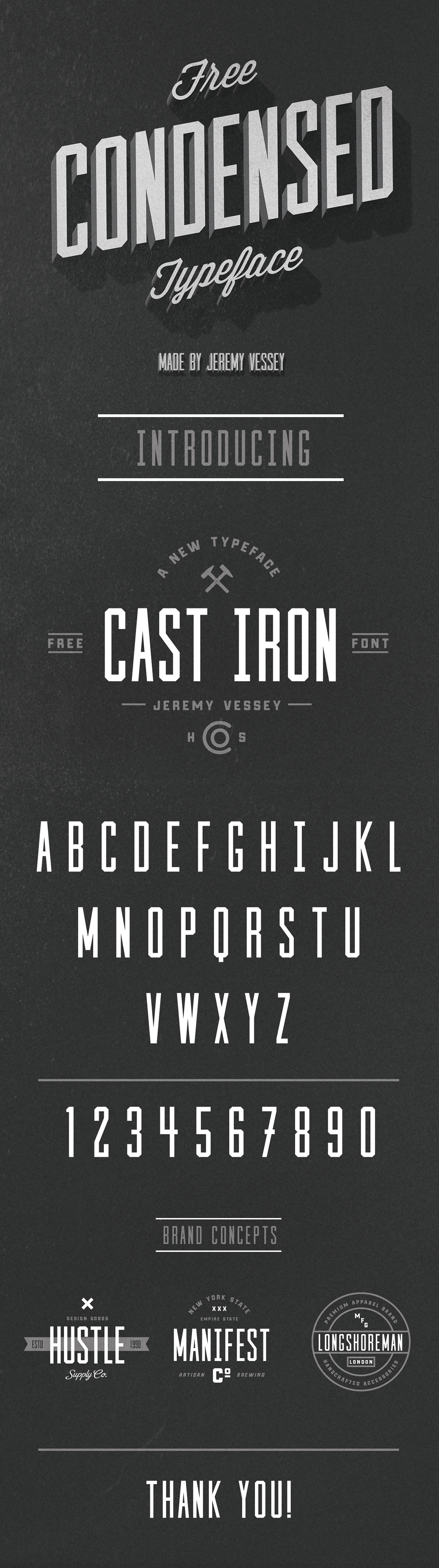 Free font free typeface free Cast Iron condensed font vintage logo logo lettering Logo Design type design retro logo retro font free type