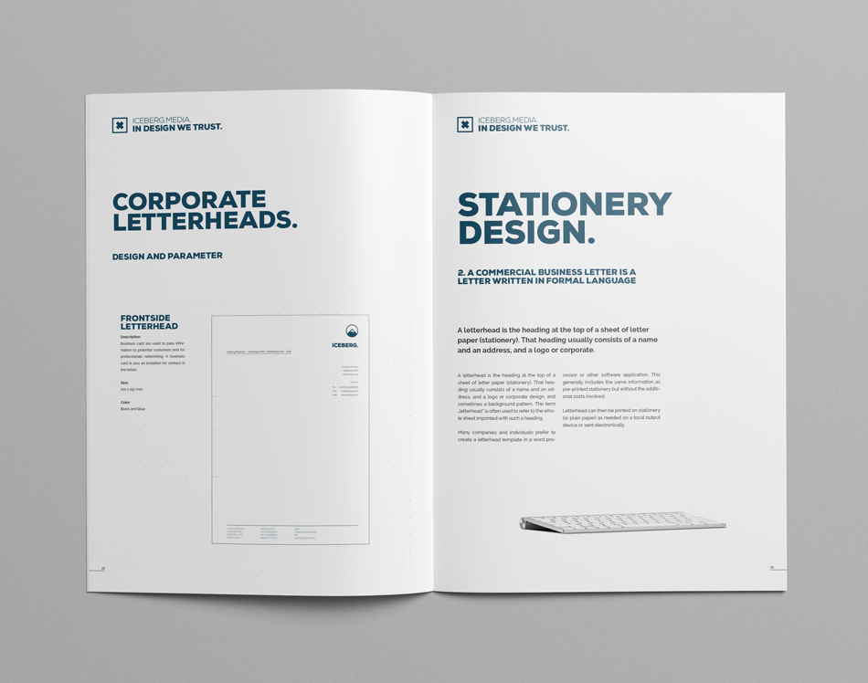 Elite corporate design manual guide on behance on your content and use this design guide book to promote your work in an outstanding way 22 pages plus frontback cover layout and fully editable spiritdancerdesigns Choice Image