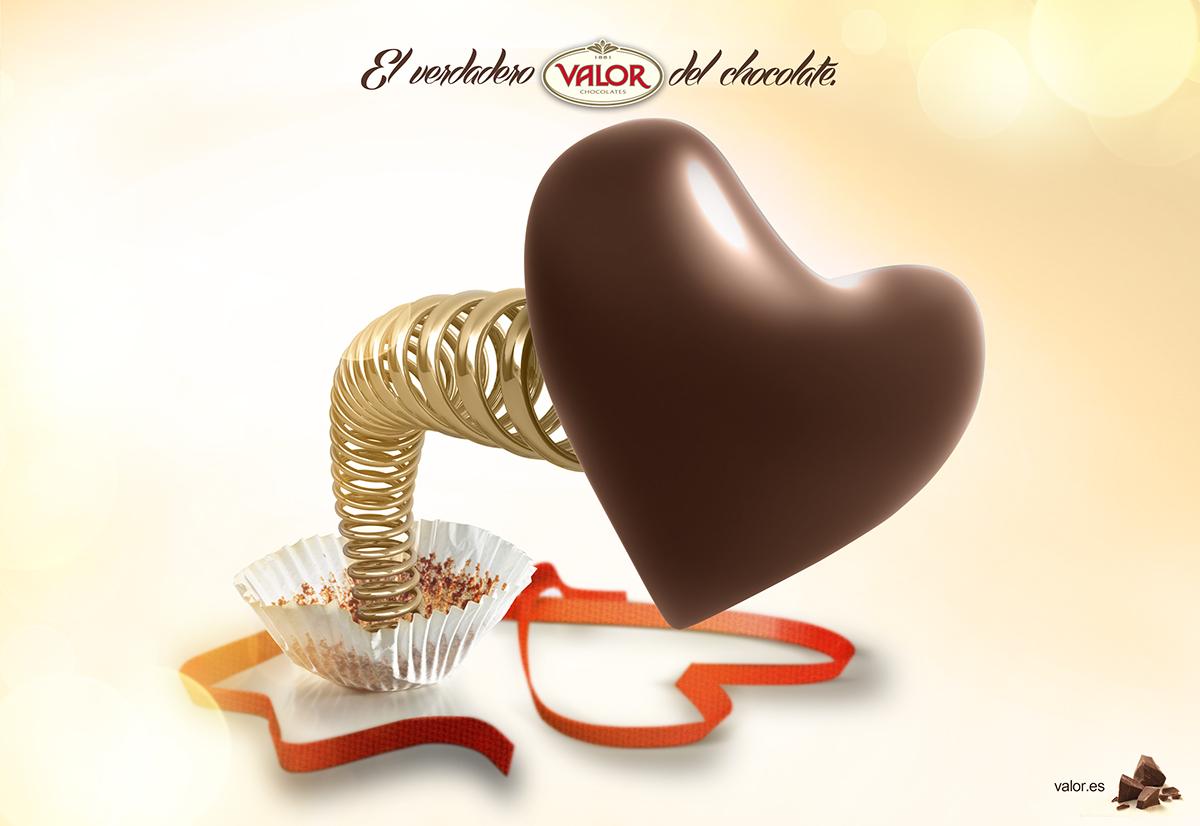 chocolat chocolate valor print creative ad kiss Love