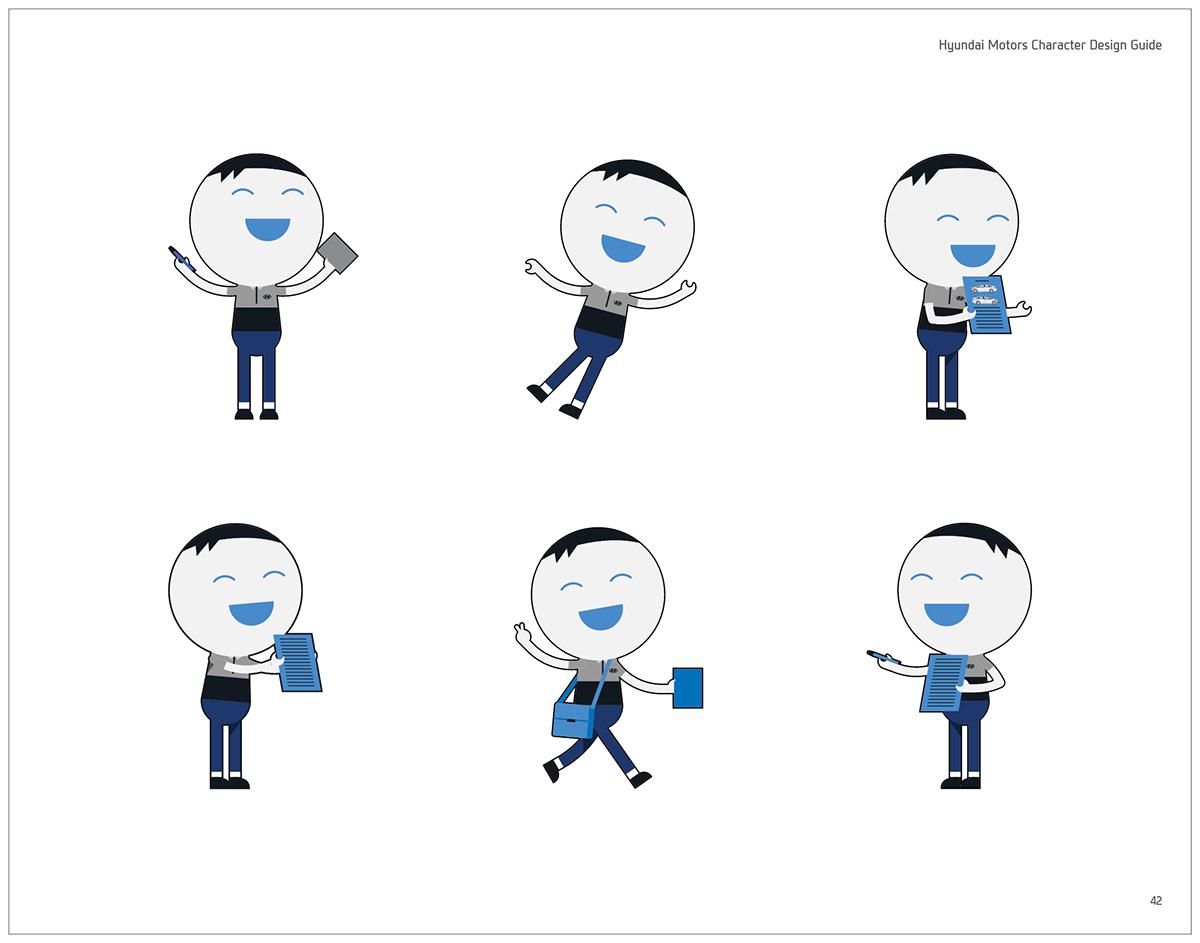 Character Design Handbook : Hyundai motors character design guide book official on