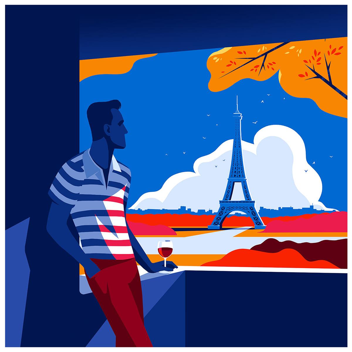 illustrations Travel series