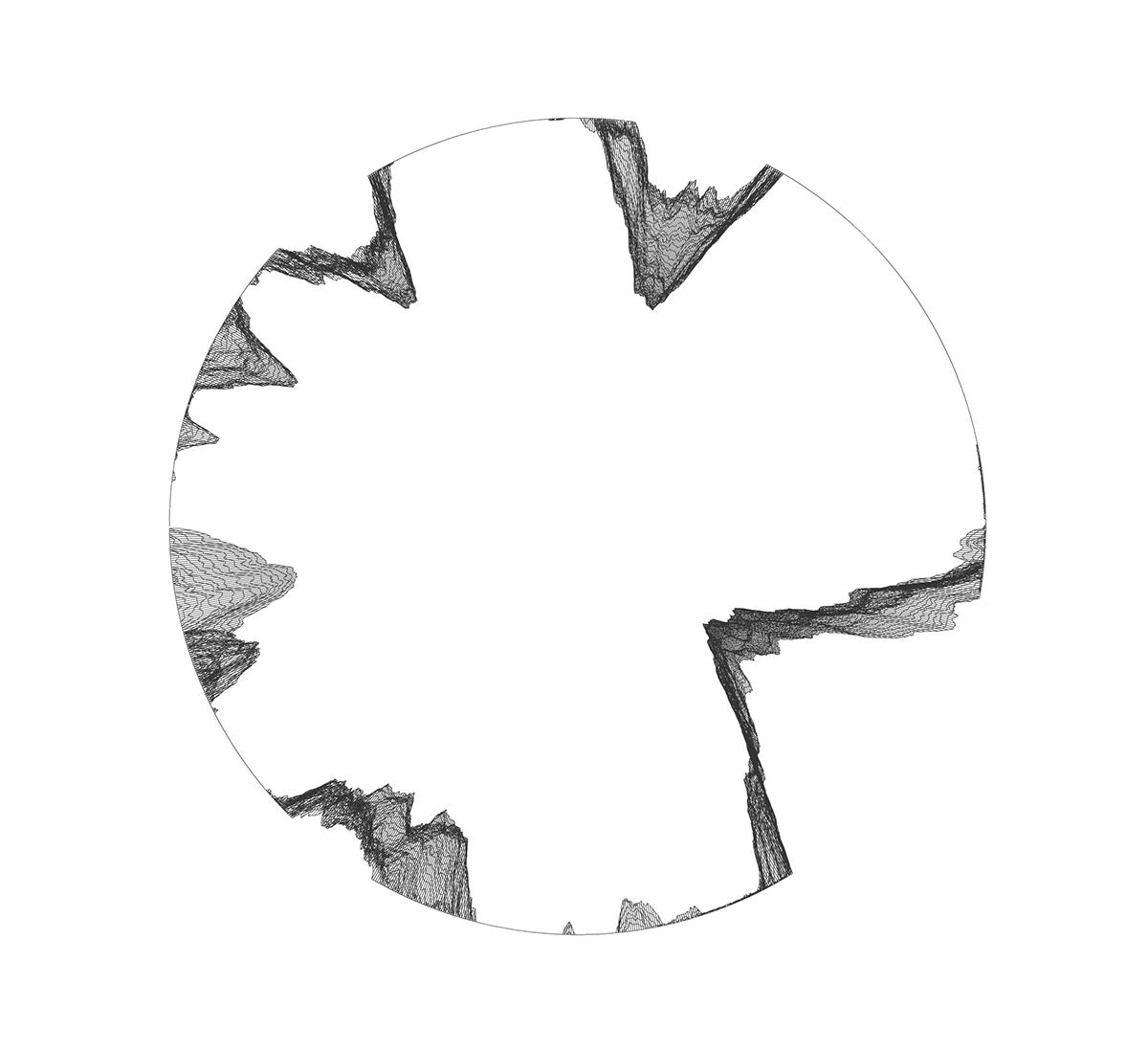 generative digital code prints art