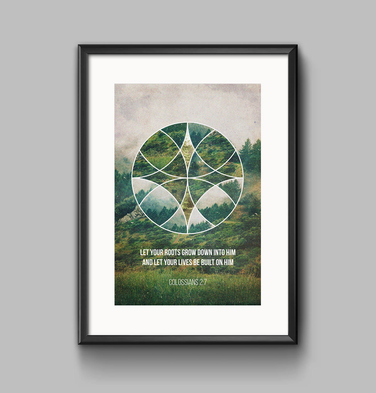 geometric collage graphic design scenery print poster Ocean sunset desert Arctic Retro vintage texture forest