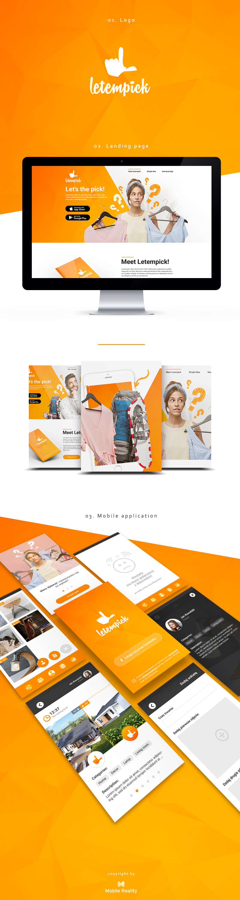 ui ux landingpage Web Design  Website design