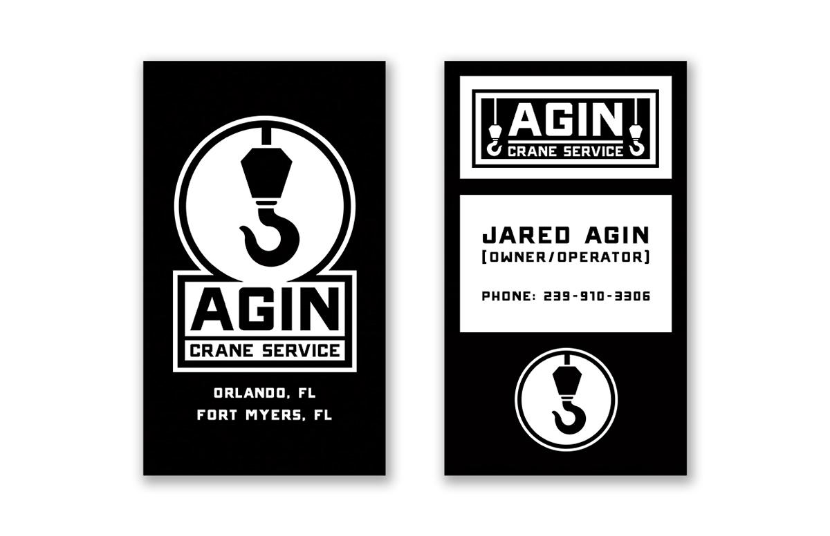 Agin crane service logo 2016 on behance agin crane service business cards colourmoves