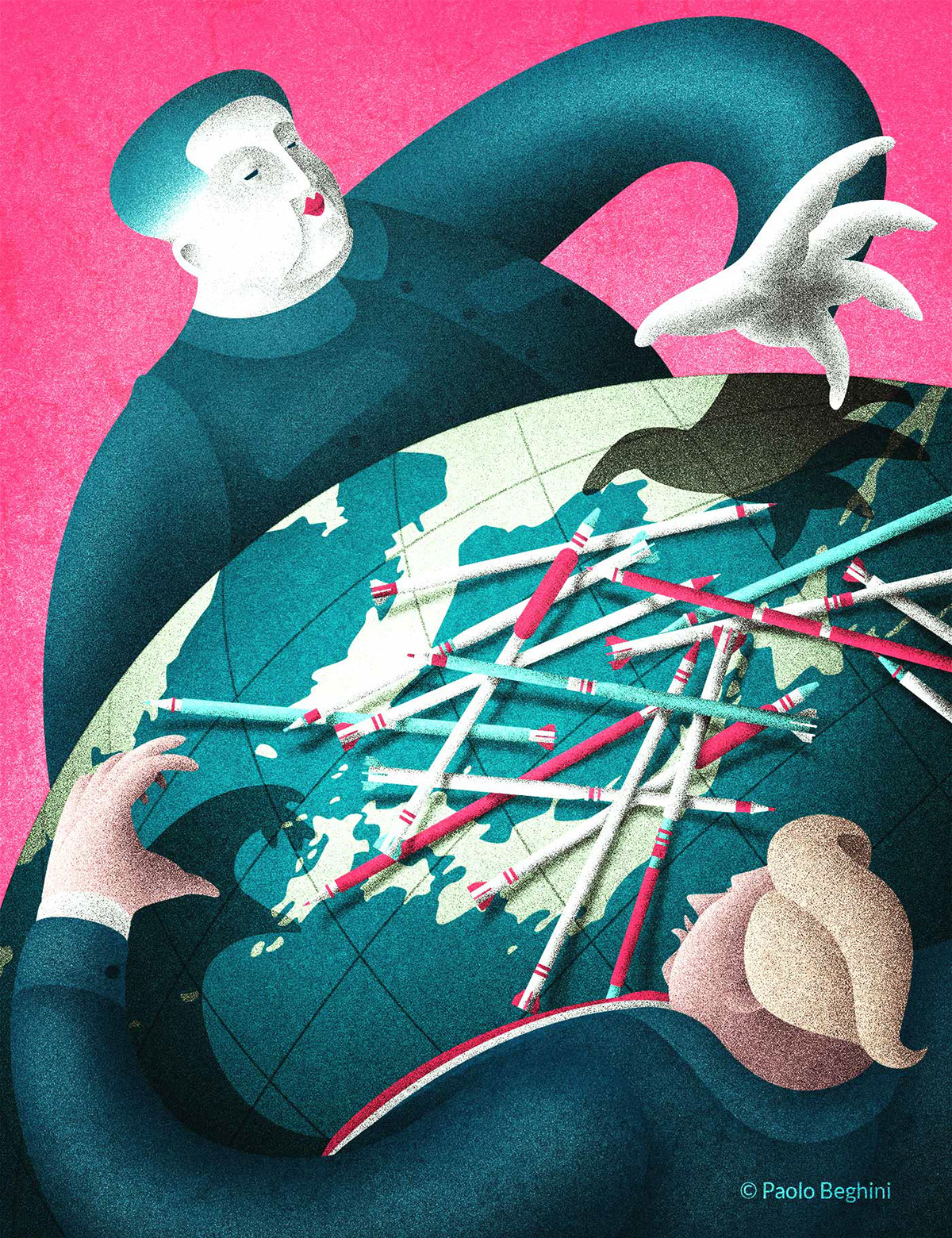 conceptual news magazine International Policy time editorial the guardian internazionale