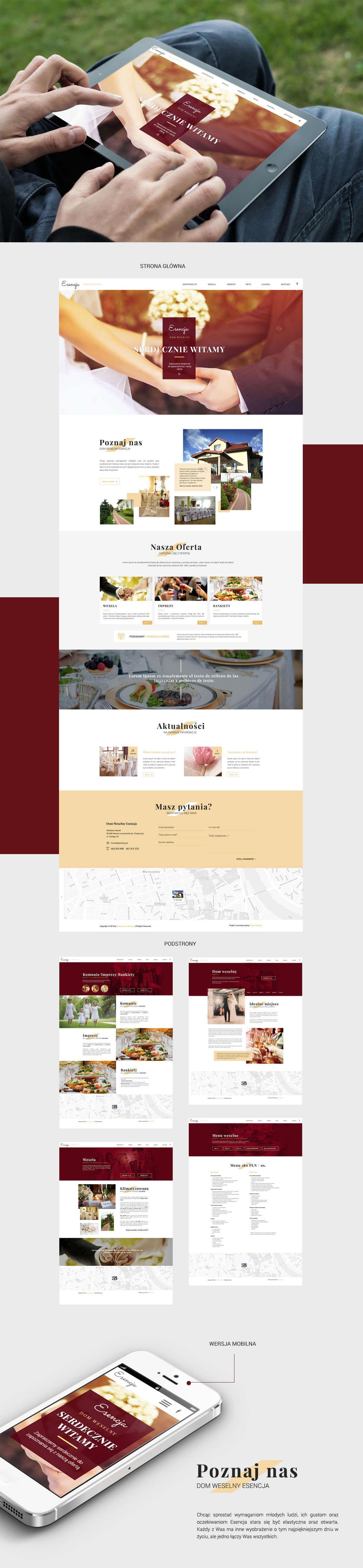 Webdesign design strona www strona internetowa strony www Strony Internetowe Web Design  projects wedding wedding website