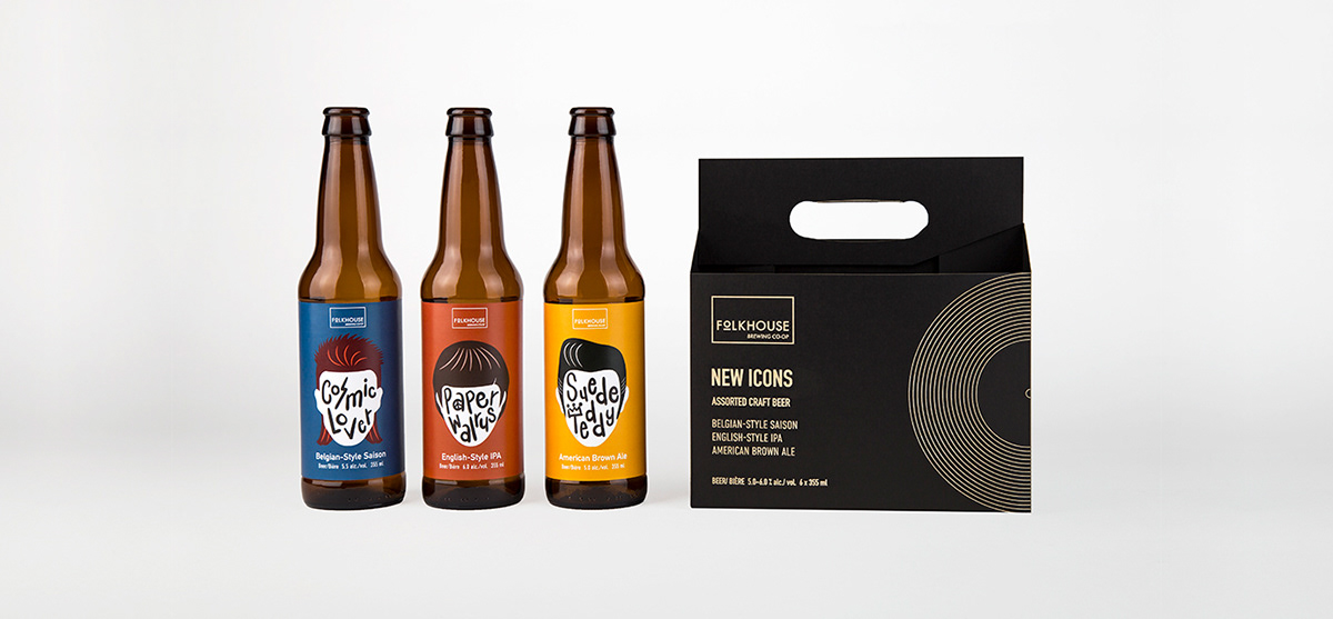 craft beer icons Packaging Retro