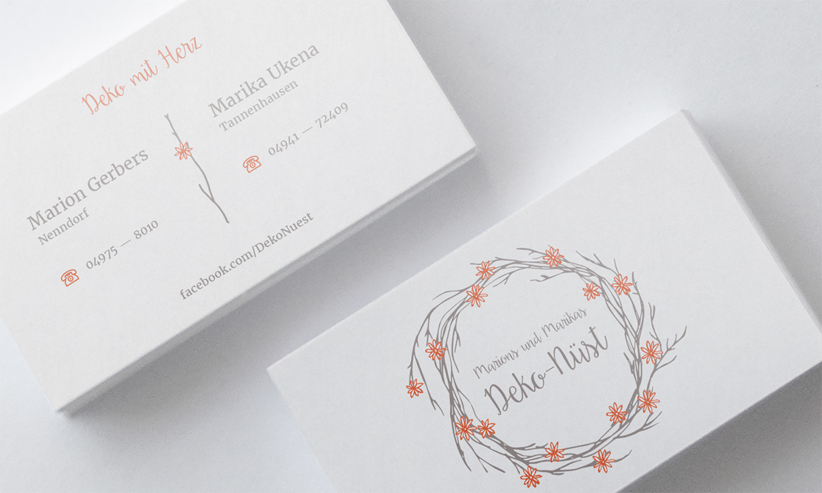 Logo Und Visitenkarten Für Deko Nüst On Behance