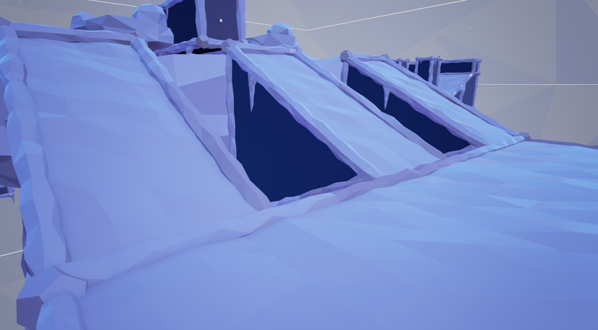 Polyseum FPS multiplayer map ice cold icecap  Low Poly polygon capture point usc Games