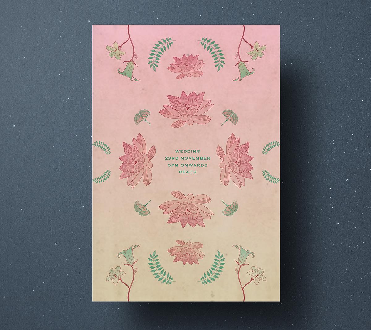 wedding Botanicals Invitation card
