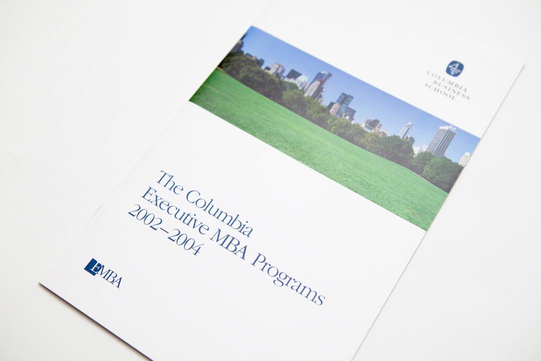 Columbia Executive Mba >> Columbia Executive Mba Brochure On Behance
