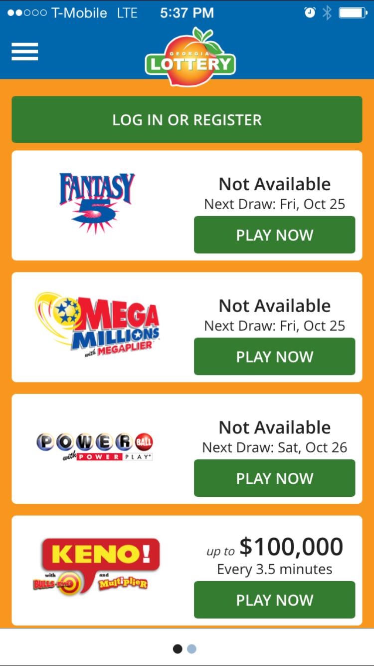 Mobile App - The Georgia Lottery on Behance