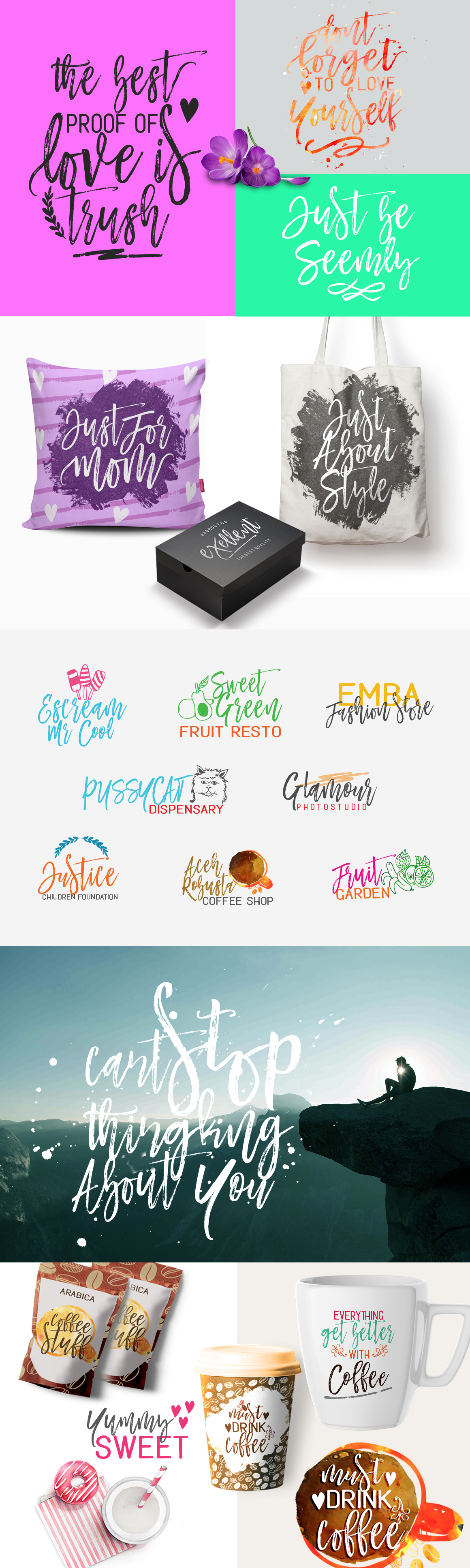 Mustache Typeface Trio, Brush - Smooth - Rounded on Behance