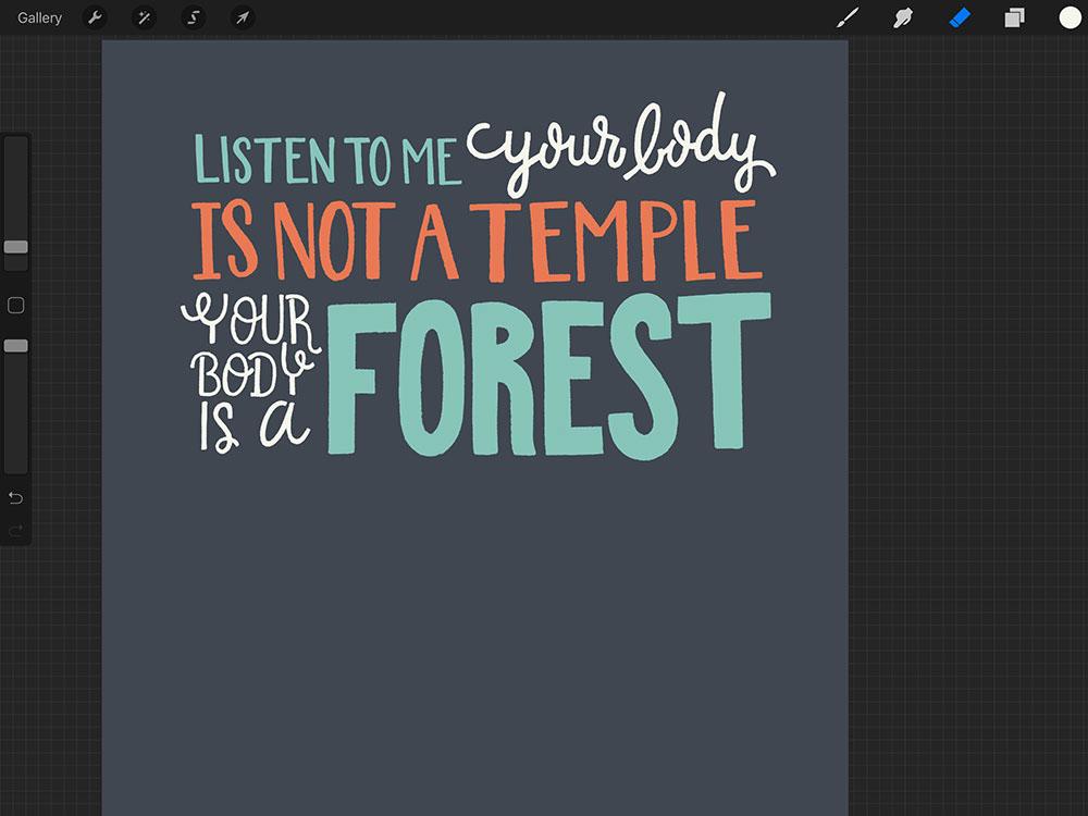 HAND LETTERING Illustrative lettering lettering inspirational quote Quote Lettering lettering poster iPad Lettering PROCREATE ART