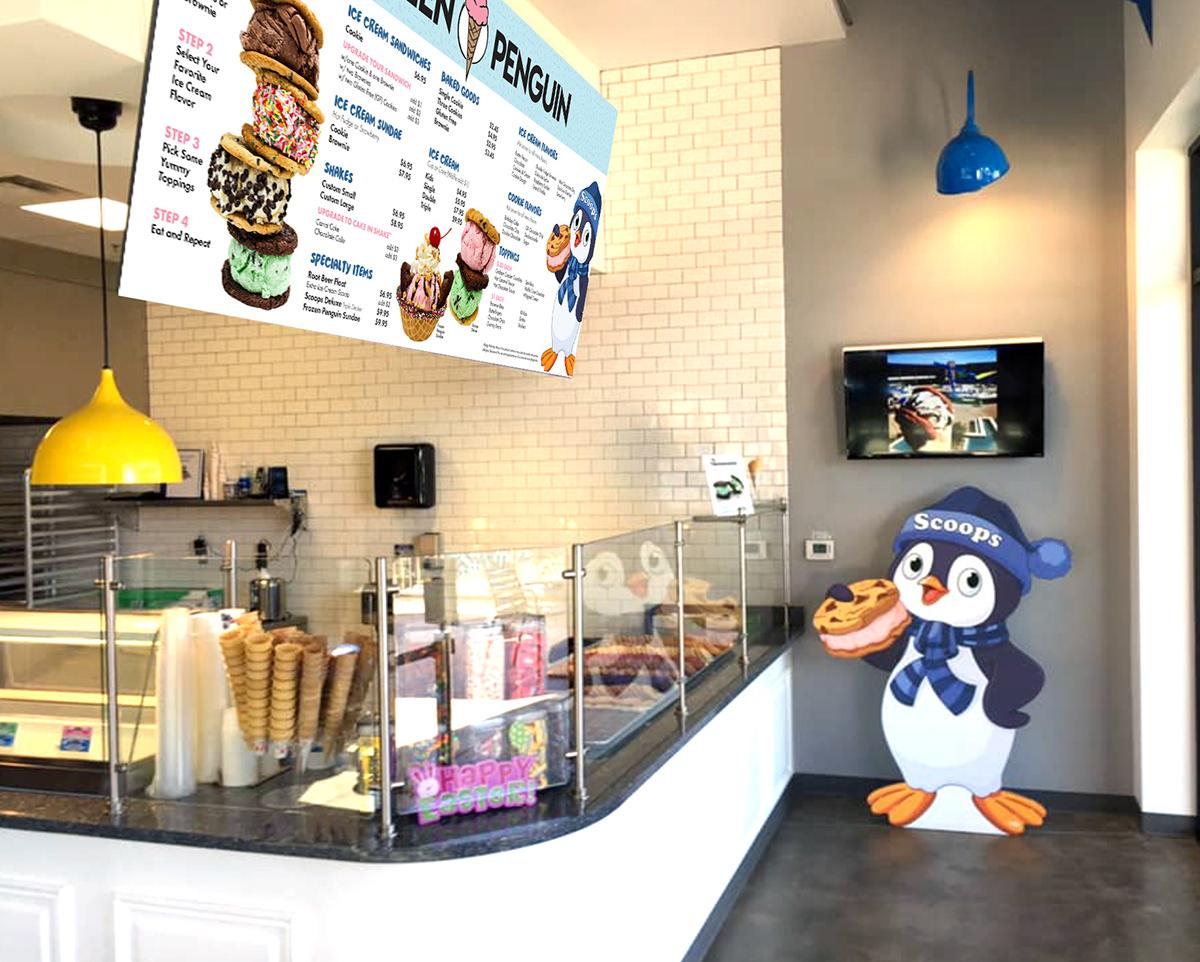 branding  graphic design  ice cream product design  Retail design