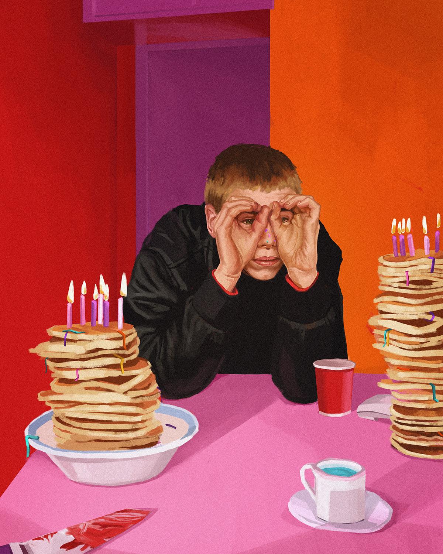 Digital Art ,digital painting,illustrations,motel,painting  ,party,portrait,process,wacom