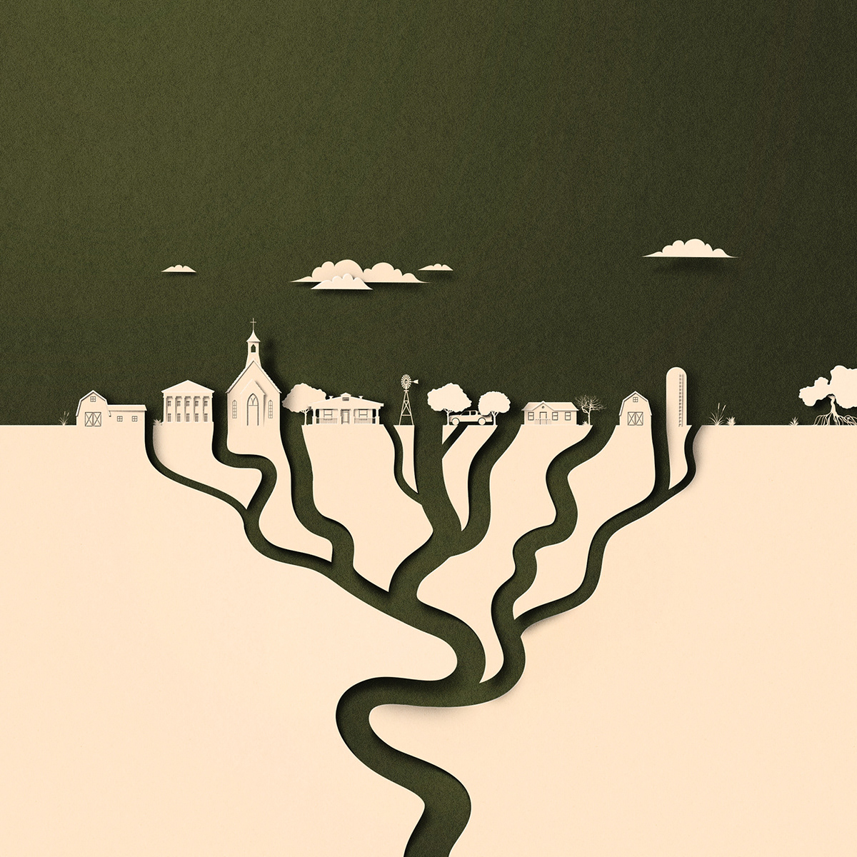 paper cut editorial minimal climate climate change america usa