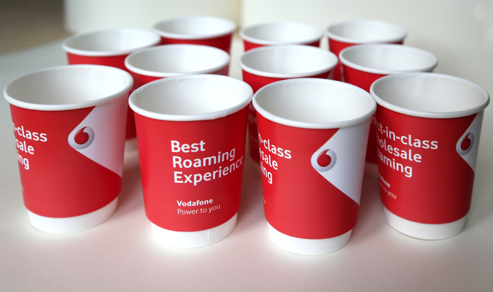 Image result for vodafone paper cups