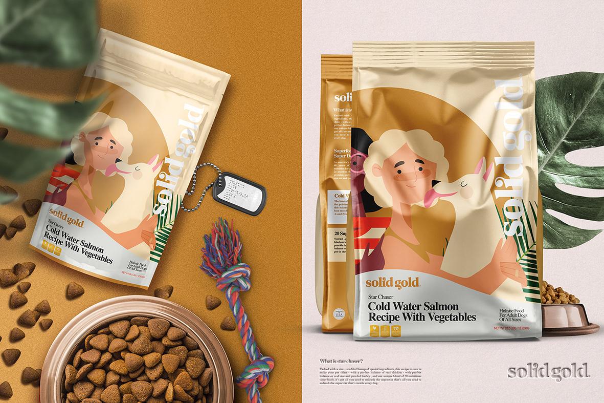 dog food dry food food branding Food Packaging food pouch mockup pet food pet mockup Pouch Mockup solid gold ten food packaging