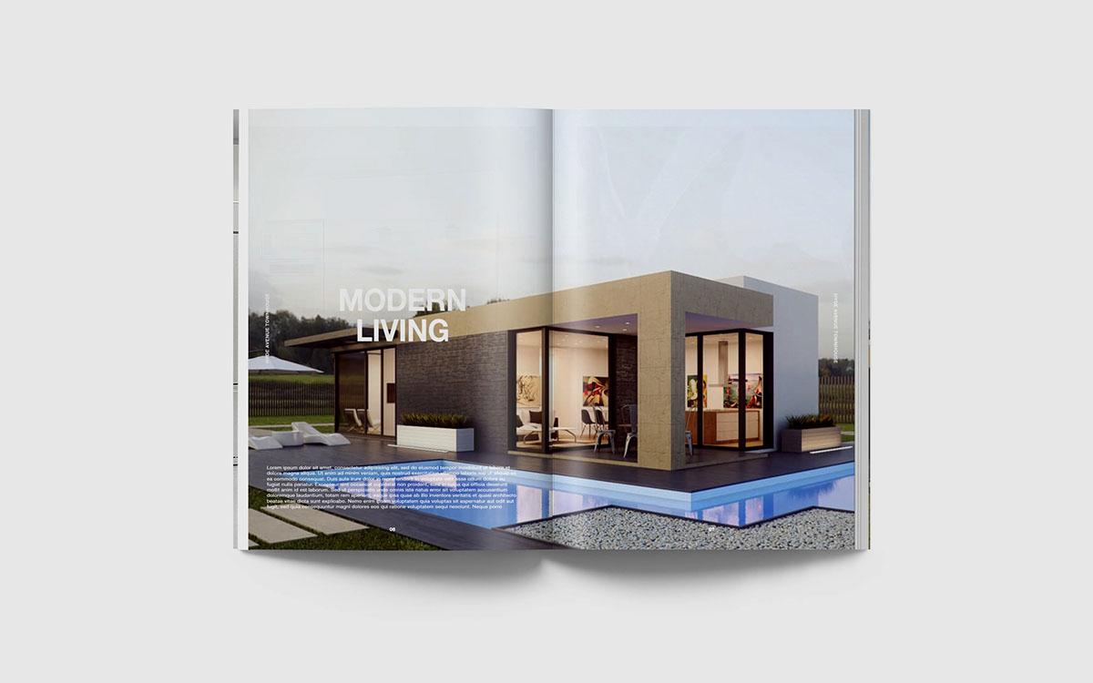 mock up template magazine book photoshop free Mockup design psd Free Magazine Mockup