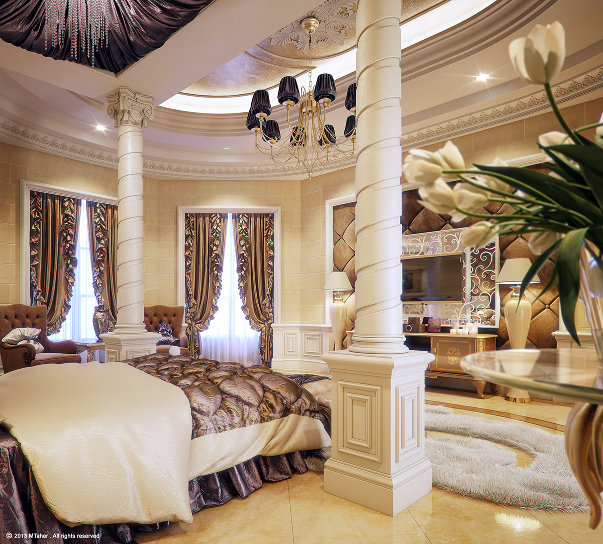 "Luxury ""Master Bedroom"" on Behance on Luxury Master Bedroom  id=84132"