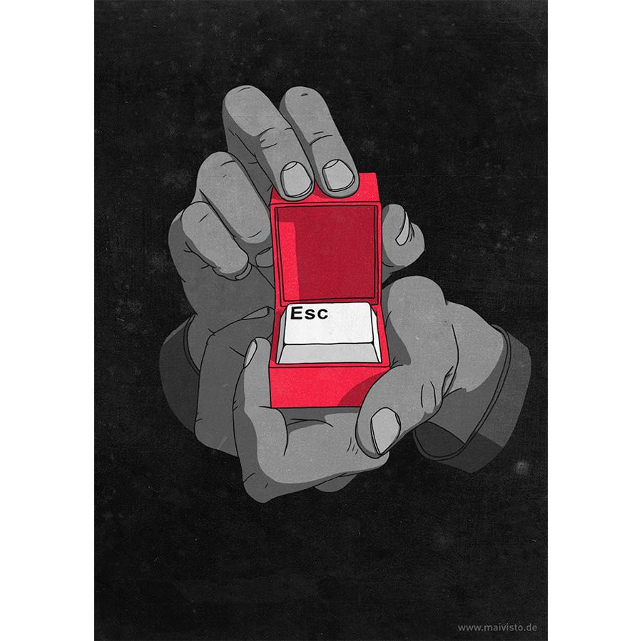 handmade red minimal minimalistic conceptual editorial social media social critical facebook