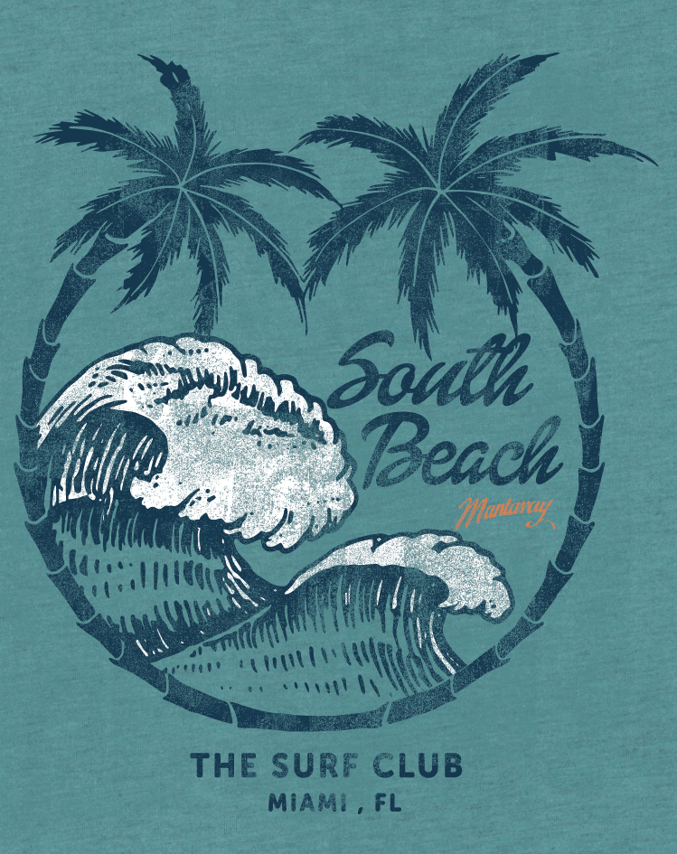 beach BEACHWEAR brand lifestyle logo tee palms placement summer Surf surfing