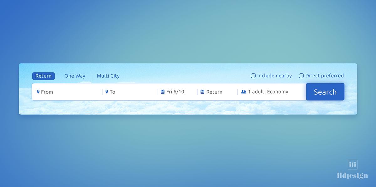 Flight Search UI Design on Behance