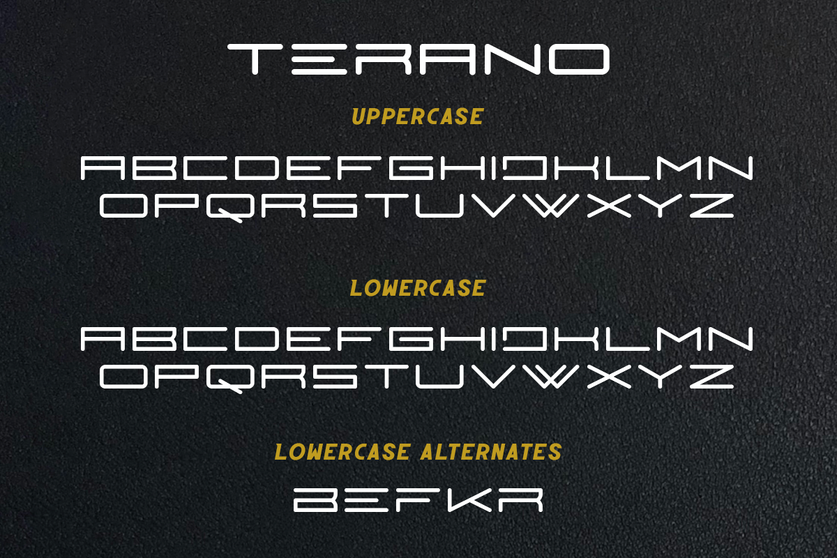 bold branding  decorative designfont Display font futuristic Logotype terano youtubefont