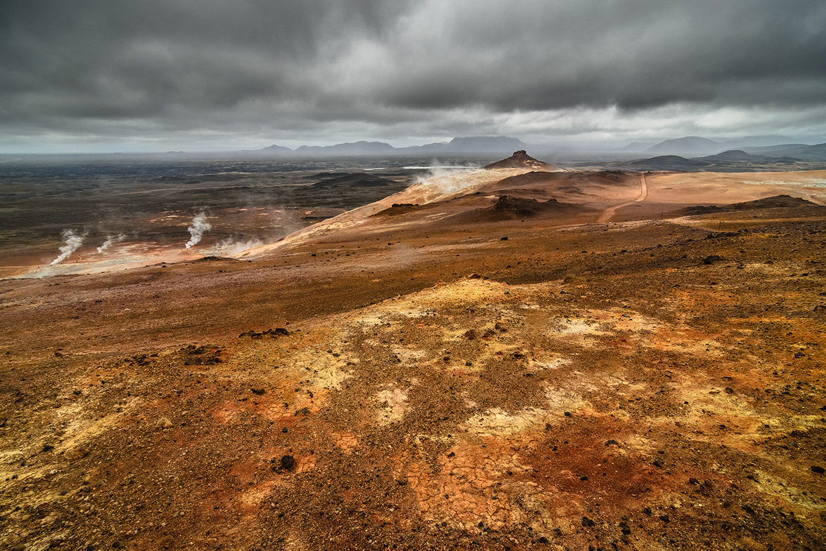 iceland Island volcano waterfall Moody snow mountain route one