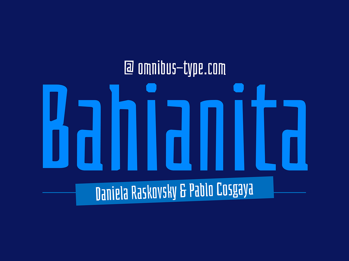 type Typeface typography   tipografia font fuente Omnibus Type lettering bahiana google fonts