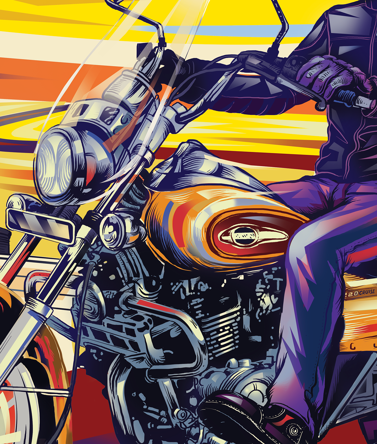 ILLUSTRATION  Digital Art  Bajaj Avenger conceptart Drawing