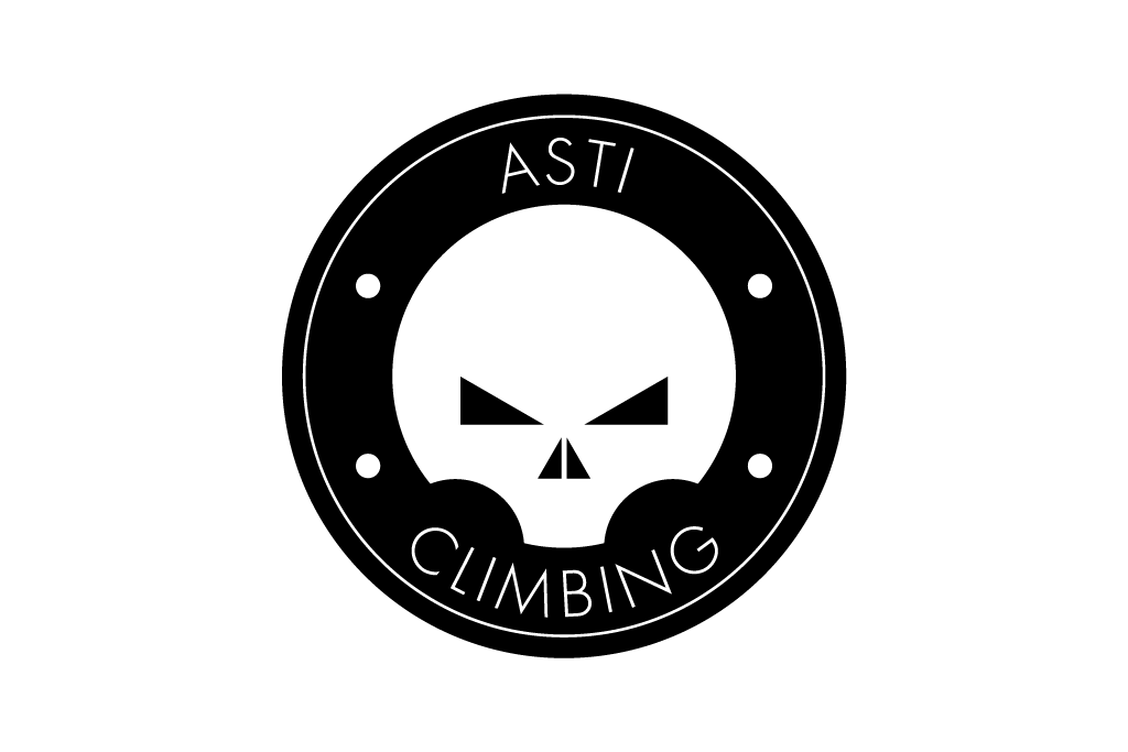 asti climbing logo minimal Logo Design identity teschio skull rock