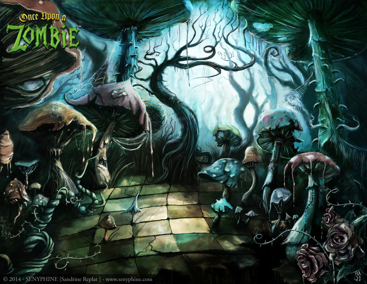 alice in wonderland once upon a zombie on behance