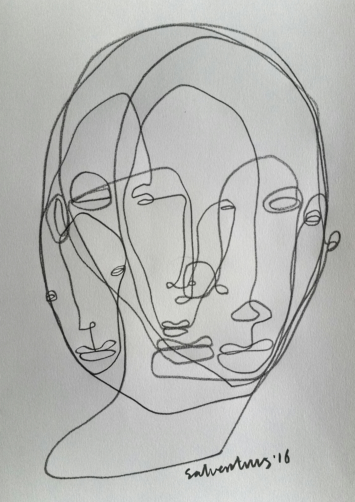 Continuous Line Art : Continuous line drawings solo art daysproject on