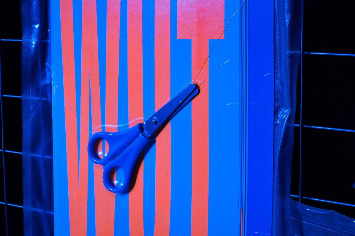 poster posterzine screenprint silkscreen graphicdesign neon blue orange