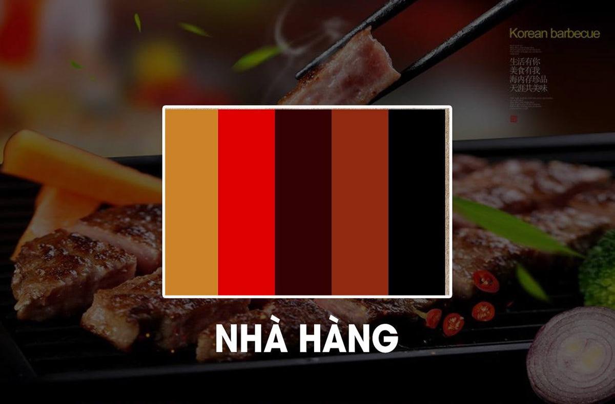 Cách phối màu sắc cho thiết kế menu cho nhà hàng