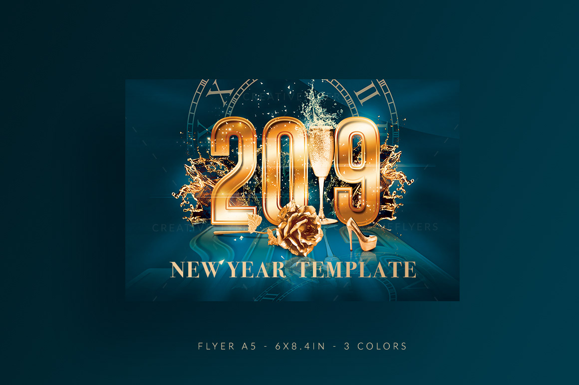 New Year Flyer Template Psd On Behance