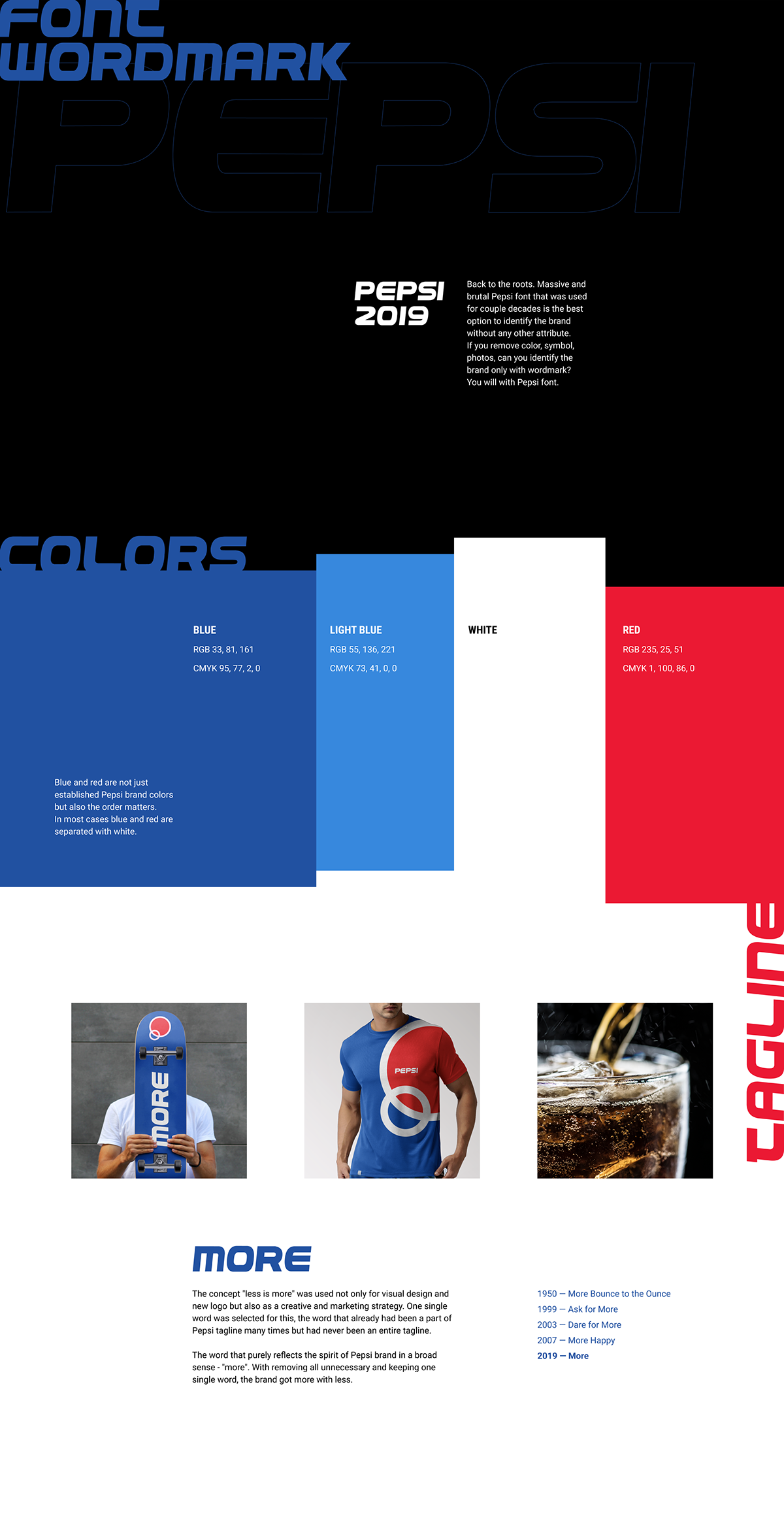 Pepsi Logo Identity and UI/UX Design Concept on Pantone