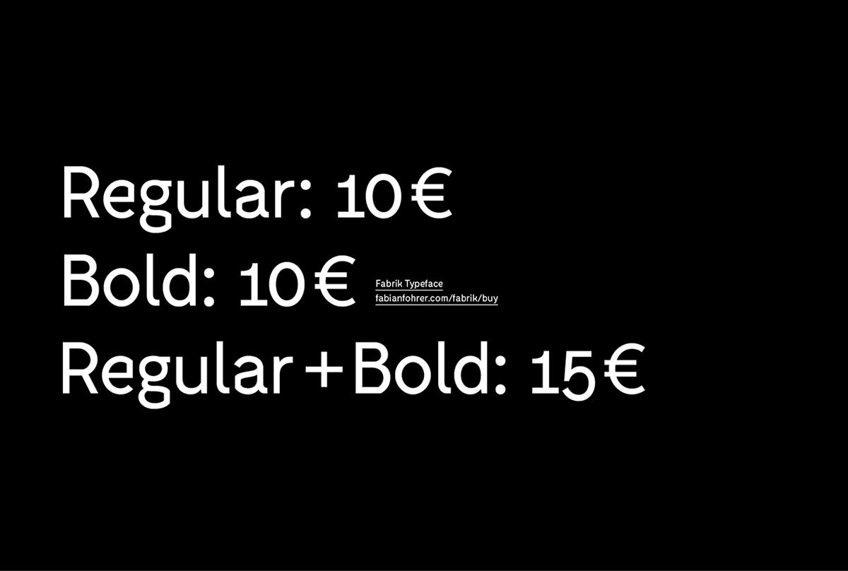 Fabrik Typeface on Behance