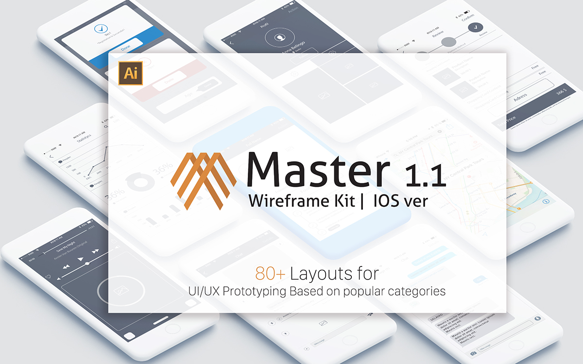 Master 1 1 - iOS Wireframe Kit on Pantone Canvas Gallery