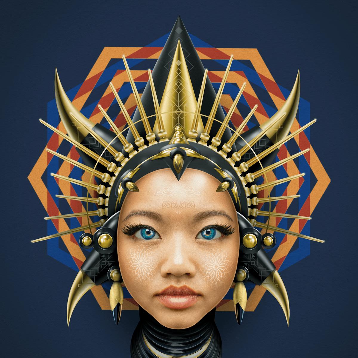 art artwork Character design  cryptoart digital Digital Art  Drawing  nft portrait vector
