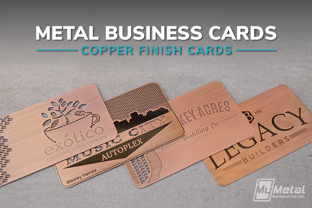 Brushed copper finish metal business cards on behance colourmoves