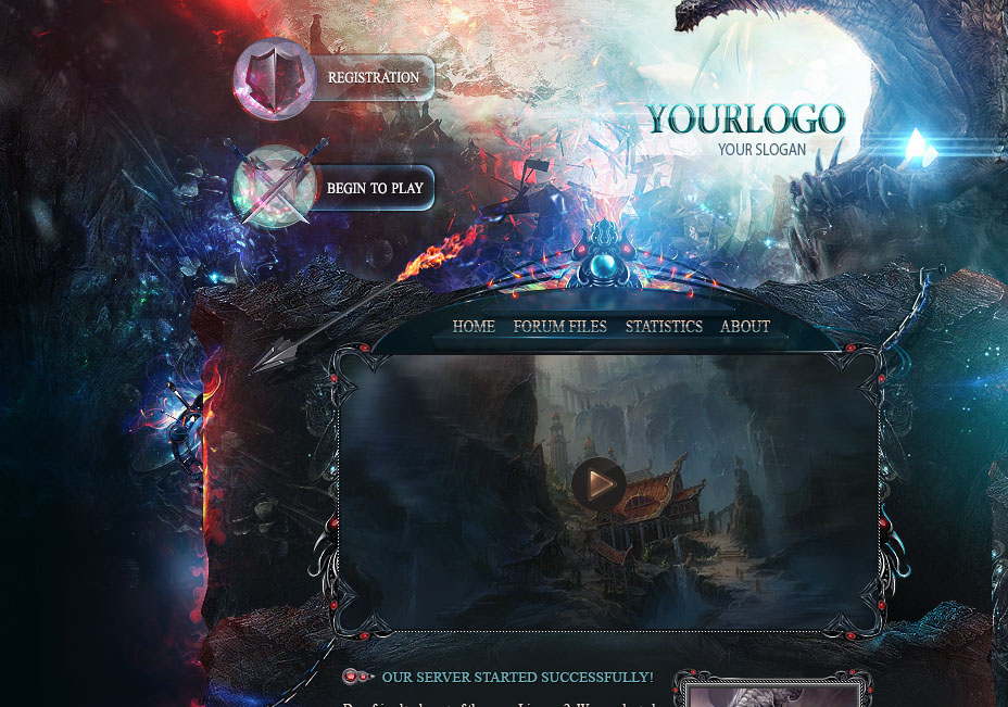 Dragon Game Website Template on Behance
