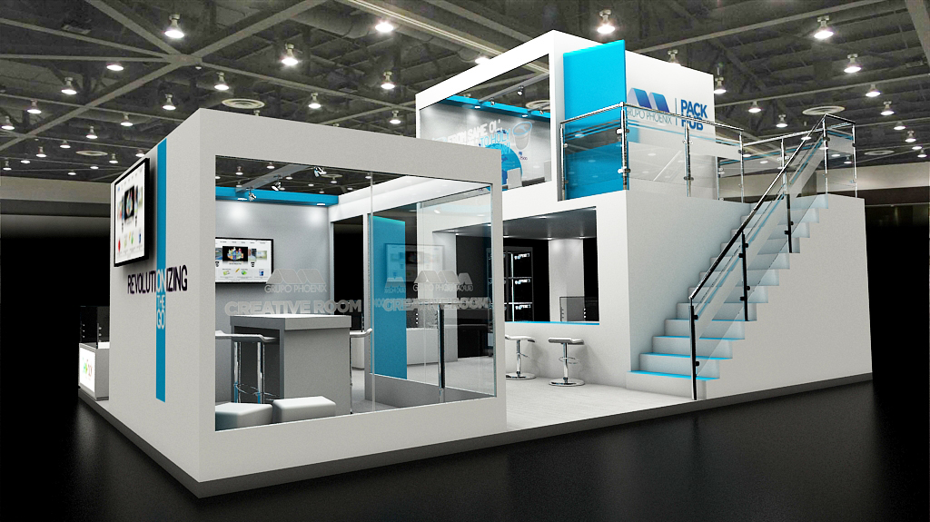 Exhibition Stand Design Illustrator : Stand mezzanine grupo phoenix on behance