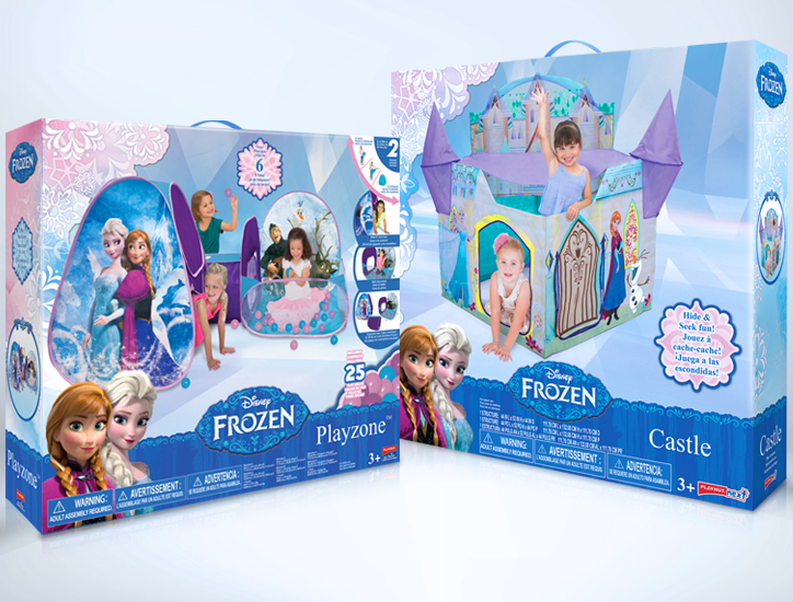 sc 1 st  Behance & Disney Frozen Licensed Play Tent Packaging on Behance
