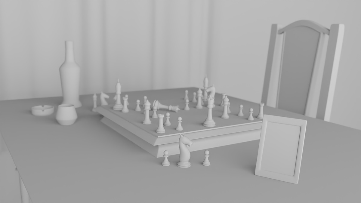 blender blender 3d 3d render CGI chess chessboard Cycles render game Realism Render