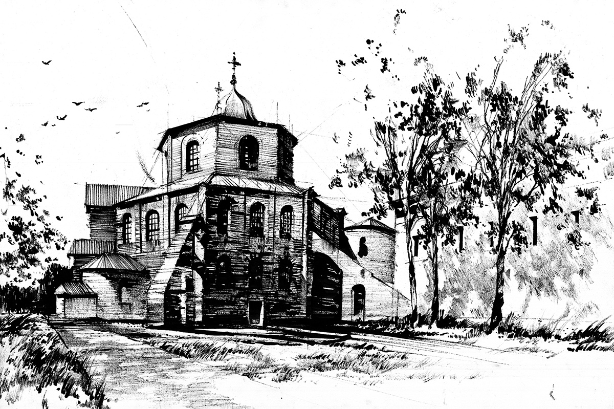 Drawing  sketch pen ink Marker architecture