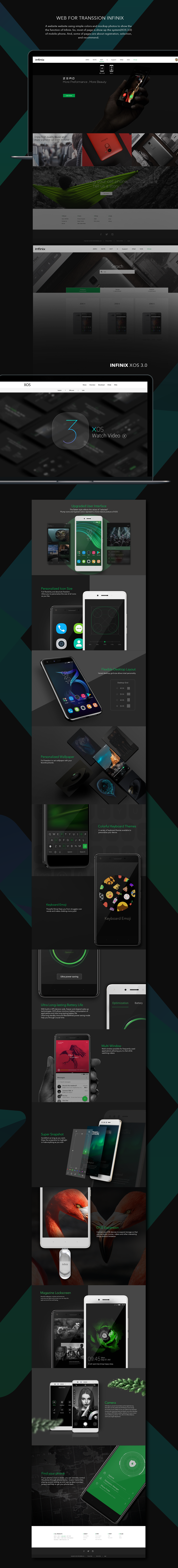 2017 Web for Infinix XOS on Behance